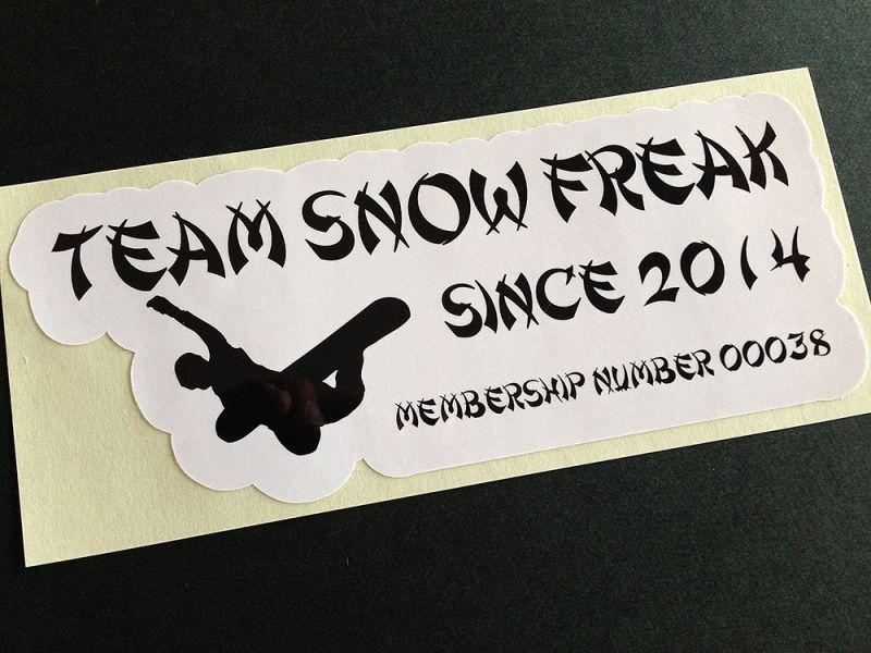 スノーボードステッカー