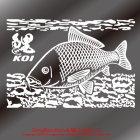 他の画像2: 鯉 ステッカー